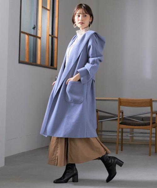 ショートヘアに似合う冬の服装|スカート7