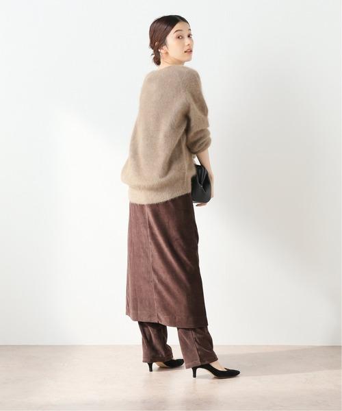 [Spick & Span] 【Loro】カットコーデュロイスカートパンツ