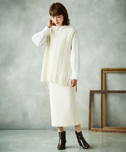 le.coeur blanc] ニットタイトスカート