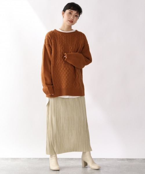 [LOWRYS FARM] ランダムプリーツタイトスカート 920251