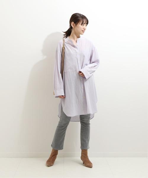 [Spick & Span] ビックポケットレギュラーシャツ
