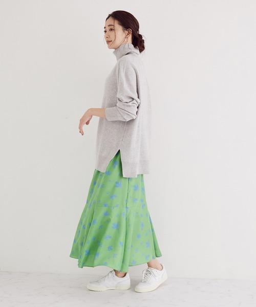 プリントマーメードスカート