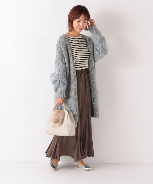 [SHIPS for women] 【SHIPS any別注】TRICOTS JEAN MARC: ケーブルカーディガン