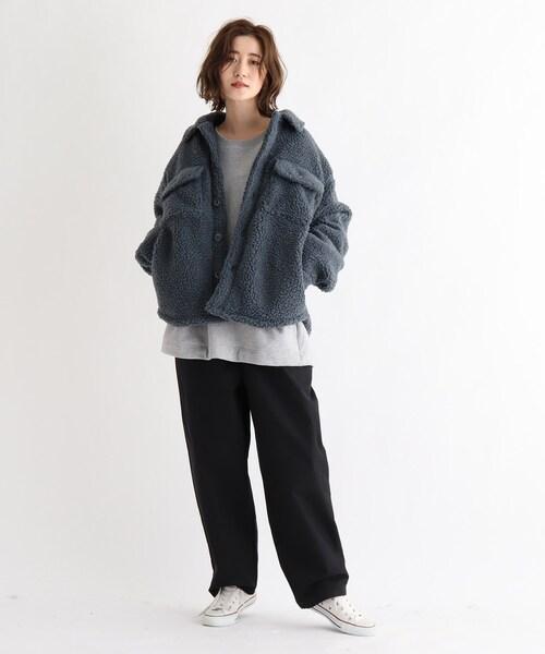 [BASESTATION] SK ボア CPOシャツジャケット