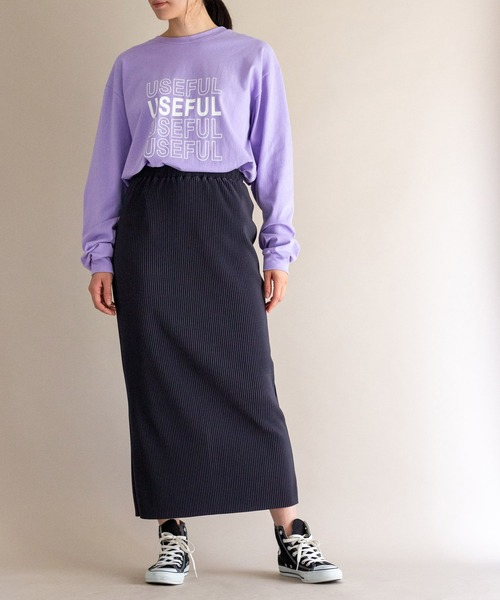 [ottilie] リブタイトスカート