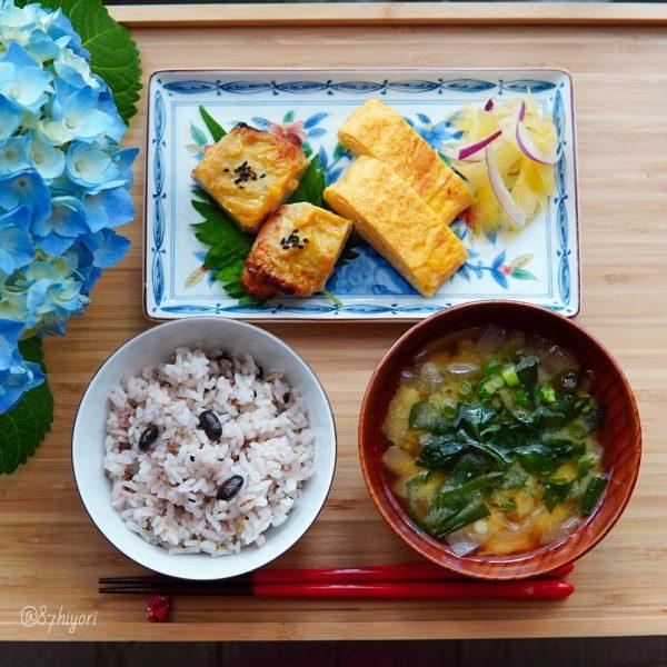 鶏の西京焼きと玉子焼きのワンプレート