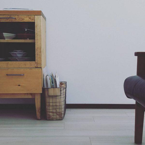 アイアンかご+ペーパーバッグの見せる収納