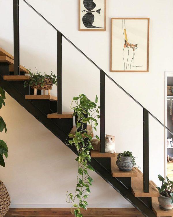 リズミカルな階段レイアウト