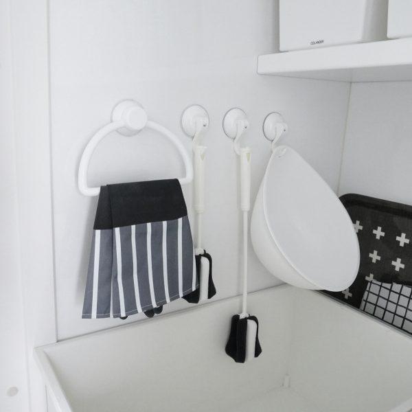 清潔感のあるデザインが人気のタオルリング