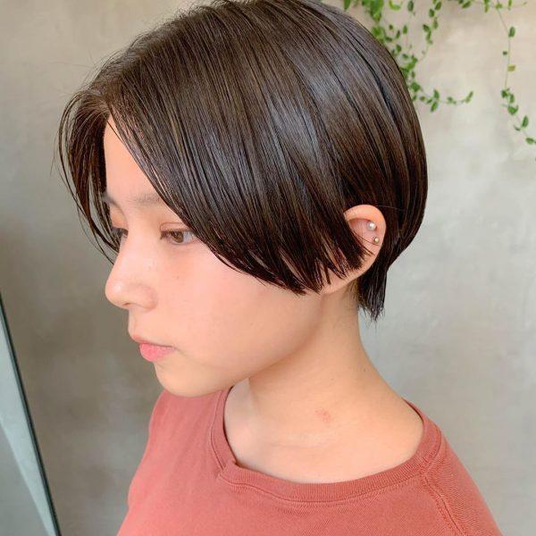 艶がきれいな長め前髪×ベリーショート
