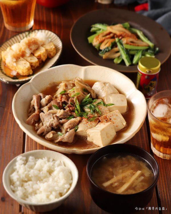 舞茸入り肉豆腐