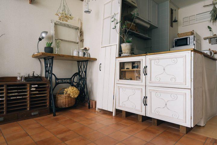 「L字型」にキッチンカウンターをDIY2