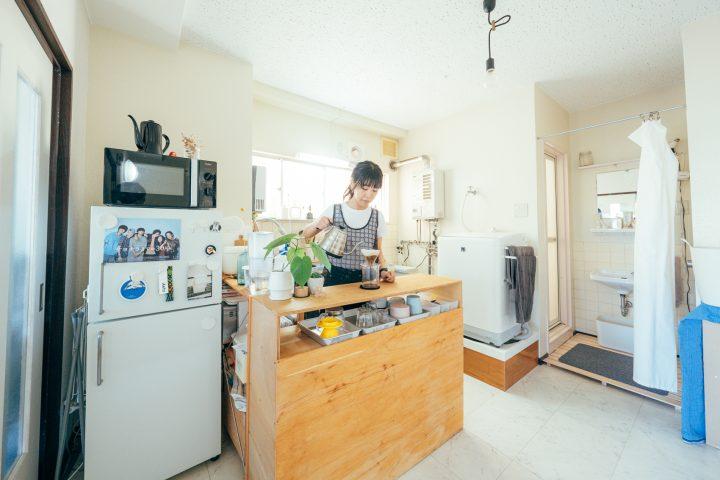 「L字型」にキッチンカウンターをDIY