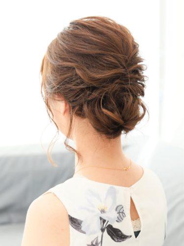40代女性×品よくまとまる大人シニヨン