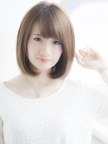 寒色系で人気のヘアカラー【グレージュ】2