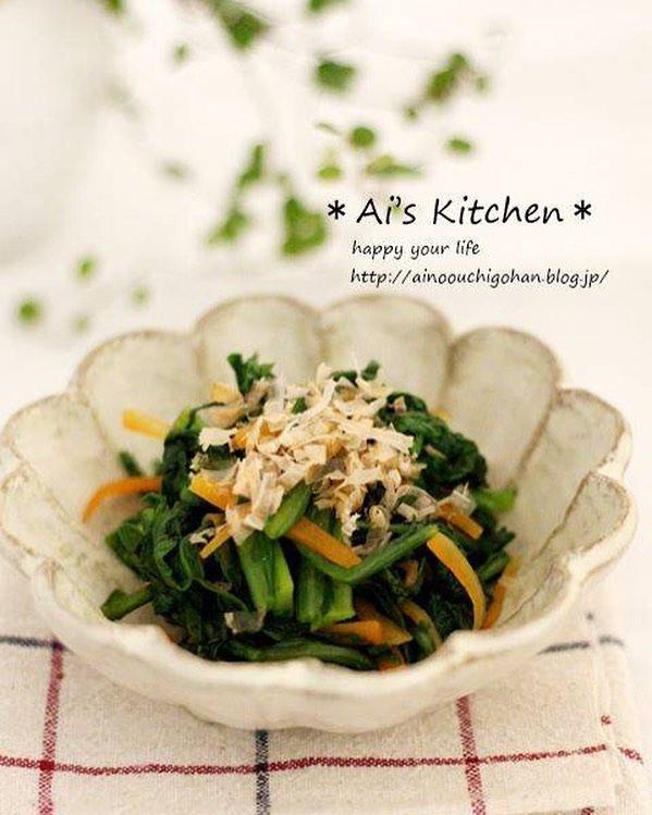 冬野菜を味わう副菜レシピの春菊のお浸し