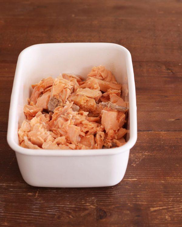 レンジ作り置きで時短常備菜!鮭フレーク