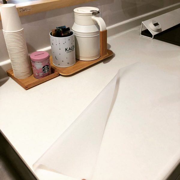 調理台保護マットでキッチンのお手入れ軽減