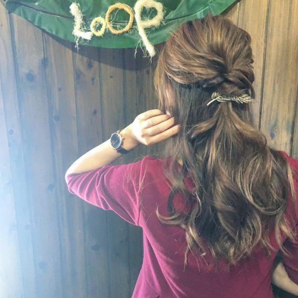 デート用ワンピースに似合う髪型