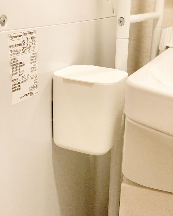 洗面所に便利な100均ミニマムゴミ箱