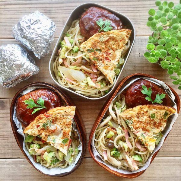 パスタのお弁当の人気麺料理のペペロンチーノ
