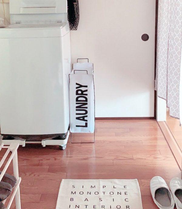 【ダイソー】スタイリッシュなランドリーバッグ