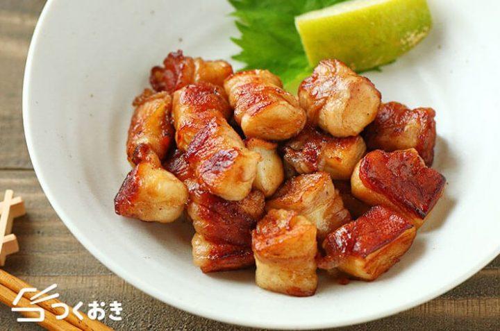 簡単な豚肉のはんぺんコロコロ焼き