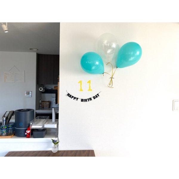 シンプルでさりげない誕生日の飾り付け