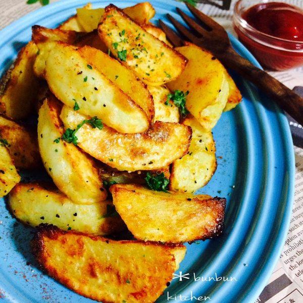オーブンで簡単!ガーリックポテト