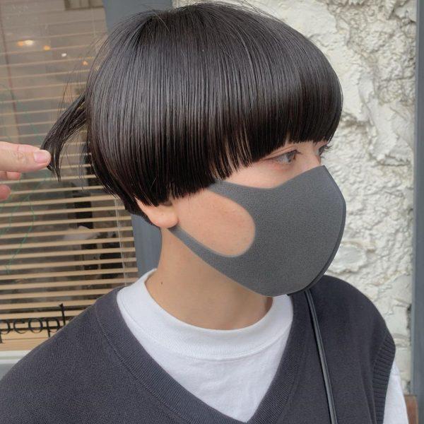 丸顔に似合うハンサムショートヘア6