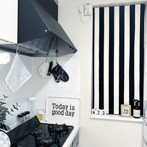 キッチン目隠しカーテンアイデア 小窓