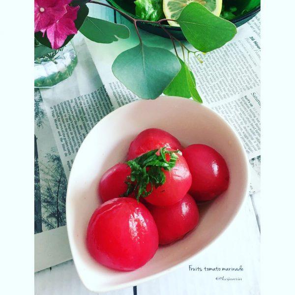 家飲みの前菜♪フルーツトマトのマリネ