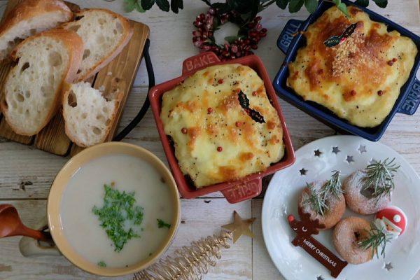 雑穀と豆の豆乳スープ
