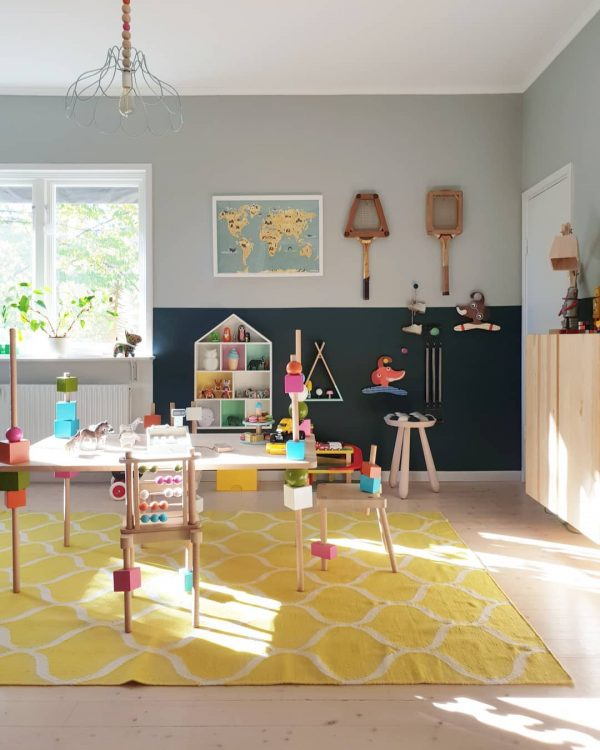 遊び心溢れる子ども部屋のウォールデコレーション