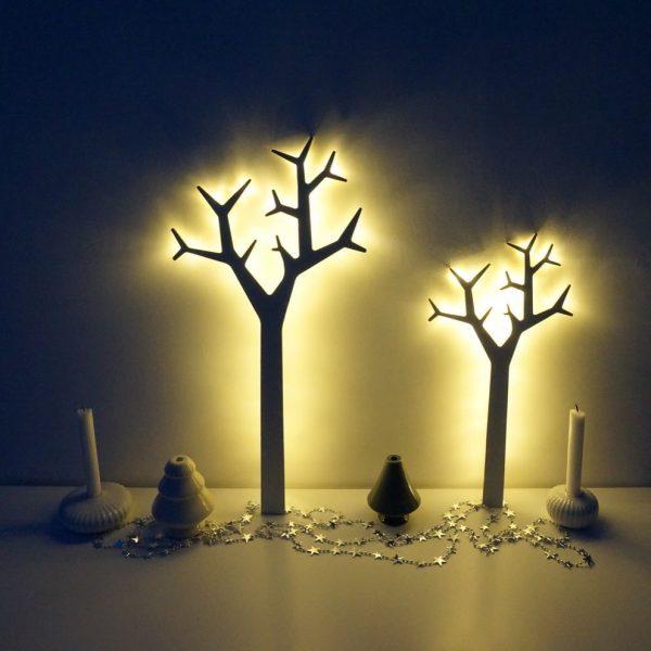 ライトアップしたツリーがロマンティック