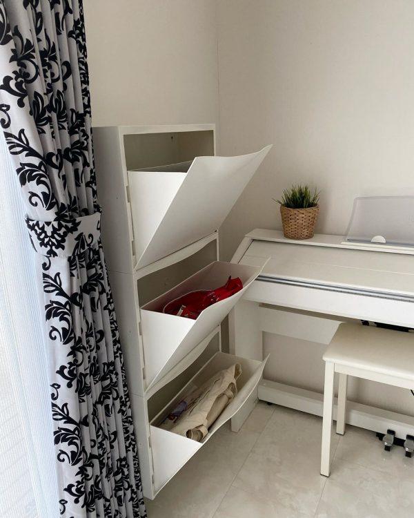 IKEAシューズキャビネットで壁面収納