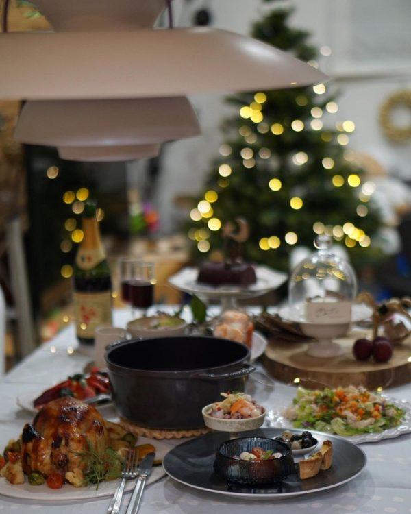 クリスマステーブルコーデ《モノトーン》3