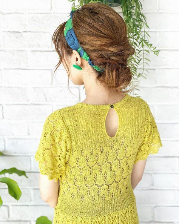 40代女性×ターバンまとめ髪アレンジ