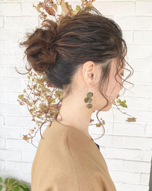 40代女性×ミドルで華やかまとめ髪
