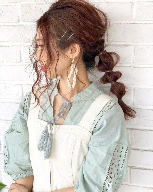 40代女性×後れ毛たっぷり玉ねぎアレンジ