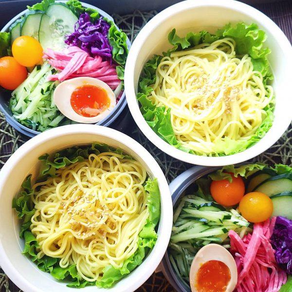 中華麺の人気お弁当レシピの冷やし中華