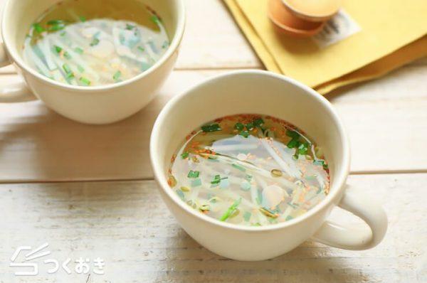 もう一品欲しい時に!もやしの簡単ごまスープ