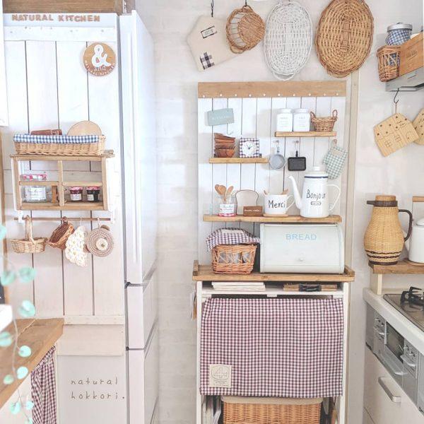キッチン目隠しカーテンアイデア《収納棚》5