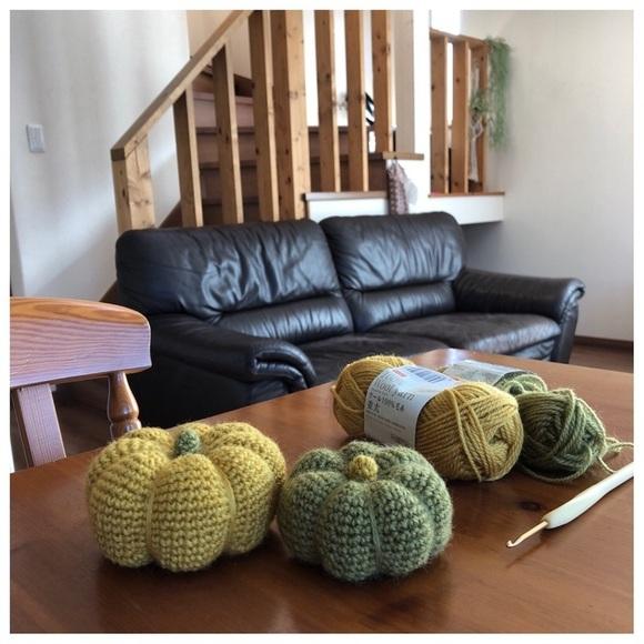 かぎ針編みの手作りオブジェ
