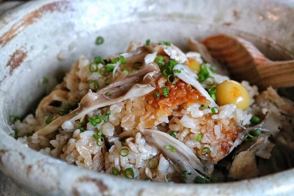 銀杏と舞茸の炊き込みご飯