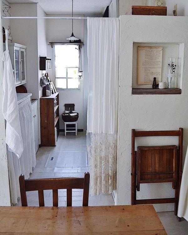 キッチン目隠しカーテンアイデア 入り口2