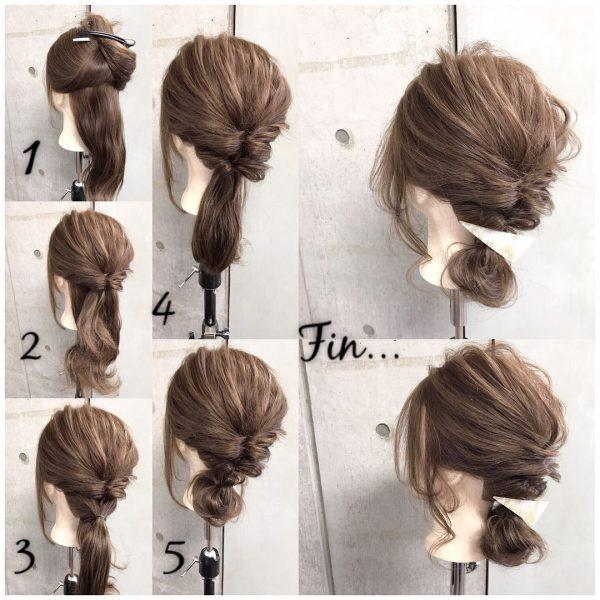 こなれ感のあるロングのきっちりまとめ髪