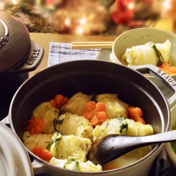 定番の冬野菜でロール白菜のレシピ