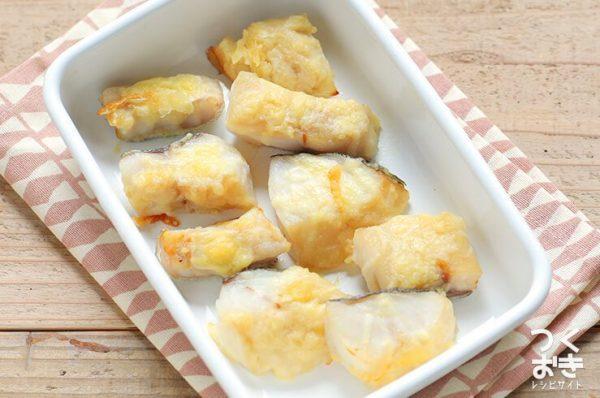 美味しいメニュー!タラの和風チーズ焼き