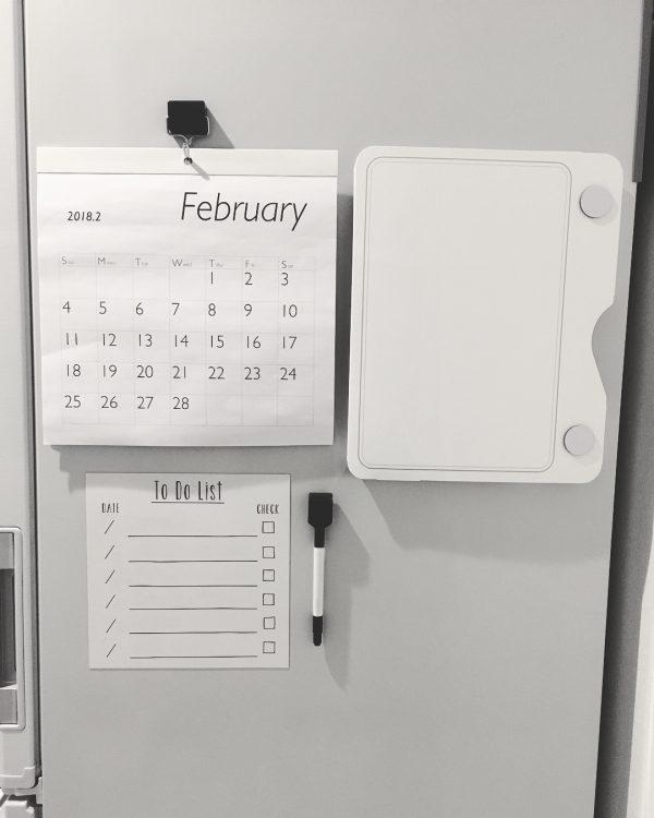 「冷蔵庫ピタッとファイル」を活用しよう。